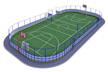 Хоккейная коробка R-3м. защитная сетка Н-1500мм за воротами ХОК-1.2