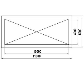 ТН-4х10 Теневой навес (40м2)