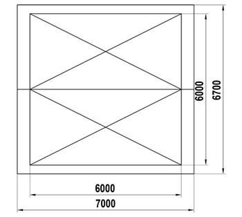 ТН-2-6х6 Теневой навес двойной (36м2)