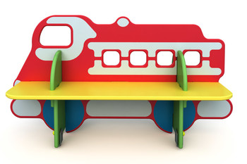 СД-1.11 Детская скамейка Пожарная машина