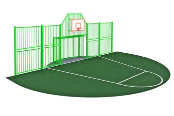 УСП-1.2 Стенка для универсальной спортивной площадки