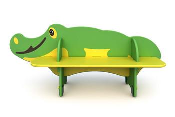 СД-1.17 Детская скамейка Крокодил