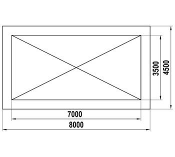 ТН-3,5х7 Теневой навес (24,5м2)
