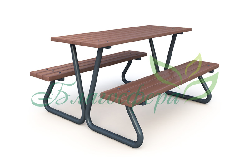 Стол со скамьей ДП-006