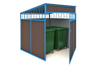 МФ-1.45.1 Навес для мусорных баков (на 2 контейнера)