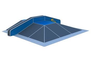 Pyramid Box 1 Элемент для скейт площадки Pyramid Box