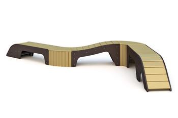 С-1.25 Скамейка парковая, модульная