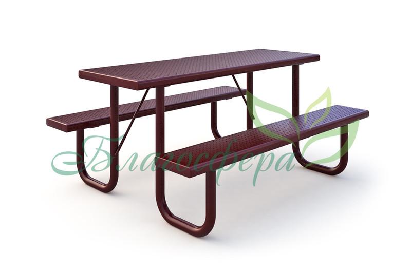 Стол со скамьями PAC-23701